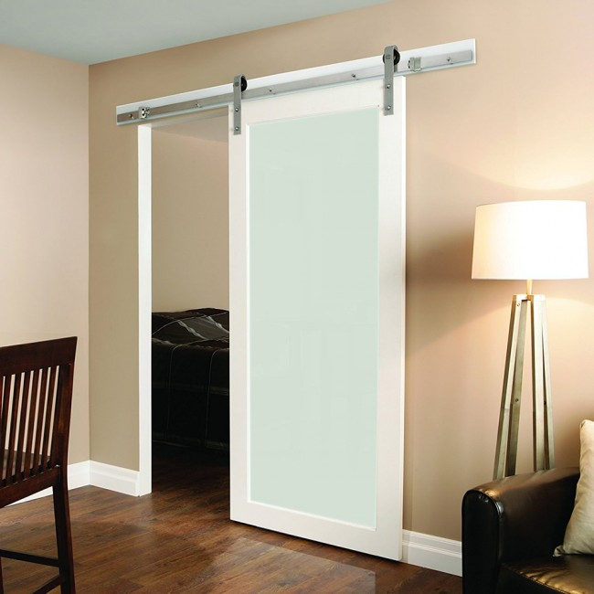 5 8ft Sliding Barn Door Hardware Stainless Single Door Track Kit